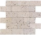 Brick Pattern Ivory Travertine Mosaic