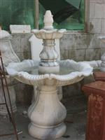 White Marble Carved Fountain