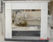 Guangxi White Marble Fireplace Frame