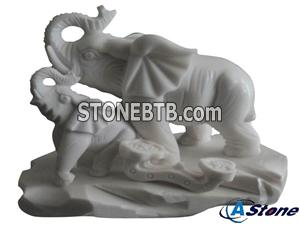 Animal Crafts,Stone Animals Carving
