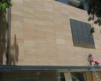 Yellow sandstone wall panels