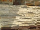 White Slate Stacked Stone Veneer Wall Cladding