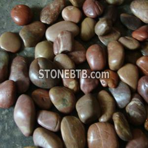 Red color pebble stone