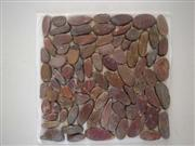 Red pebble stone mosaic