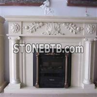 Remote Marble Fireplace