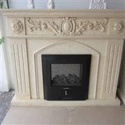 Remote Marble and Granite Fireplace