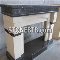 Marble and Granite Fireplace