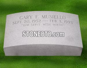 White Granite Tombstone