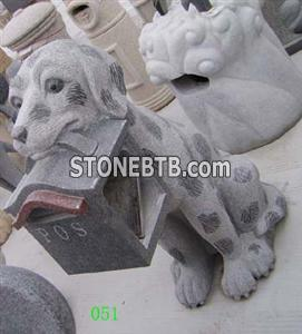 Granite Dog Sculpture