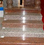 imperial red granite stairs