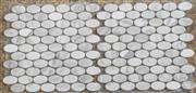 royal white marble mosaic ST048