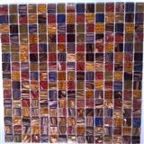 gold line glass mosaic ST054