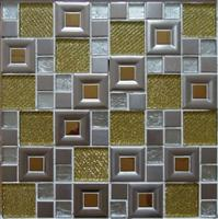 Metal mosaic mix glass mosaic,ST056