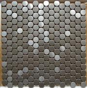 Penny round stainless steel metal mosaic ST057