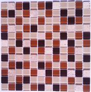 Glass mix marble mosaic ST096