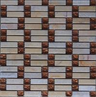 Glass mix marble mosaic ST076