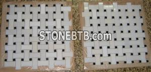 White marble mosaic ST083
