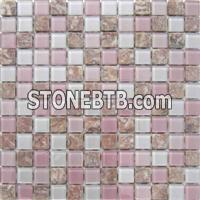 Glass mix stone mosaic ST103
