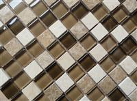 Glass mix stone mosaic ST101