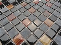 glass mix marble mosaic ST102
