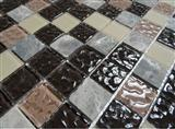 glass mix marble mosaic ST104