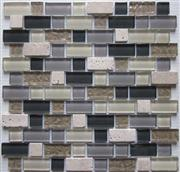 glass mix marble mosaic ST109