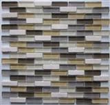 glass mix marble mosaic ST107
