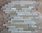 glass mix marble mosaic ST111