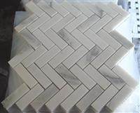 White marble mosaic ST031