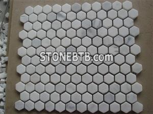 White marble mosaic ST023