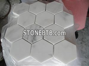 White marble mosaic ST026