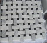White marble mosaic ST027