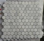 White marble mosaic ST029