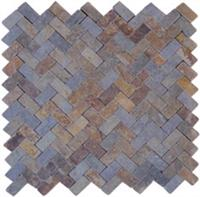 Waved Slate mosaic