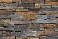 Multicolour slate wall panels