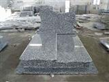 Spary White granite tombstone