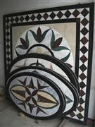 Marble Stone Medallion Pattern