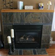 Green Slate Tile Fireplace