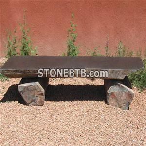 Black Basalt Stone Bench