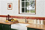 Mediterranean Tile and Stone Marble Sink