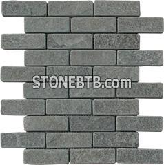 tumbled grey slate mosaic