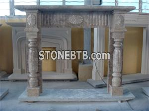 Marble Fireplace For Decoration