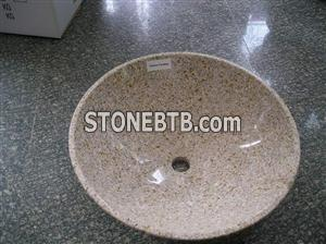 G682 sink,yellow fantasy granite sink