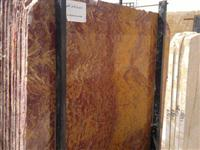 Fire red travertine