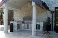 Exterior Stone  Kitchen Outside 0210