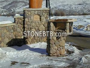 Exterior Stone River Rock Mail Box 0600