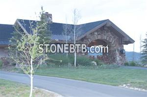 Exterior Stone Gate House 0325