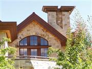 Exterior Stone Mountain Valley Sandstone House 0217