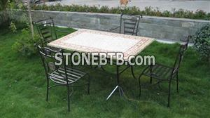 Slate mosaic table