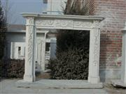 Grey Marble Carved Fireplace